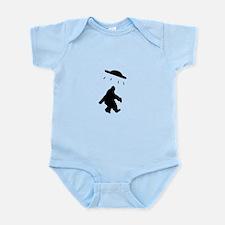 Bigfoot and UFO Infant Bodysuit