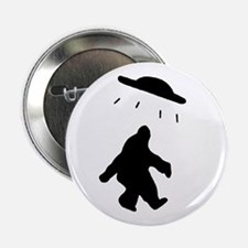 "Bigfoot and UFO 2.25"" Button (10 pack)"