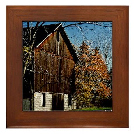 Brown Barn Framed Tile