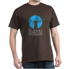 centered GECC blue T-Shirt