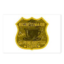 Business Major Caffeine Addiction Postcards (Packa