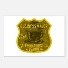 Business Major Caffeine Addiction Postcards (Packa