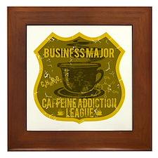 Business Major Caffeine Addiction Framed Tile