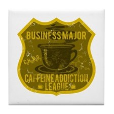 Business Major Caffeine Addiction Tile Coaster