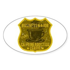 Business Major Caffeine Addiction Decal