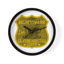 Business Major Caffeine Addiction Wall Clock