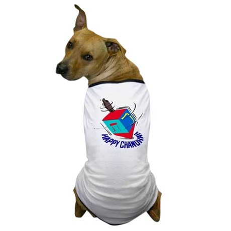 Spinning Dreidel Dog T-Shirt