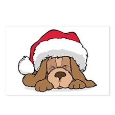 Basset Hound Santa Postcards (Package of 8)