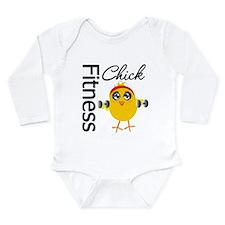 Fitness Chick Long Sleeve Infant Bodysuit