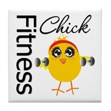 Fitness Chick Tile Coaster
