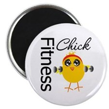 "Fitness Chick 2.25"" Magnet (10 pack)"