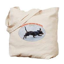 Holiday Dachshund Tote Bag