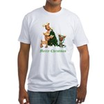 A VERY DEER CHRISTMAS Fitted T-Shirt