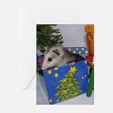 Opossum Present Christmas Cards (Pk of 10)