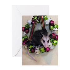 Jingle Bells Opossum Christmas Card