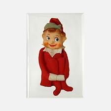 Cute Vintage Elf Ornament Rectangle Magnet