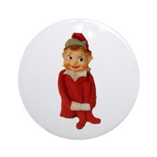 Cute Vintage Elf Ornament Ornament (Round)