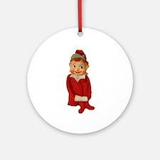 Cute Vintage Elf Ornament Ornament (Round)