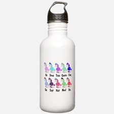Counting French Poodles Water Bottle