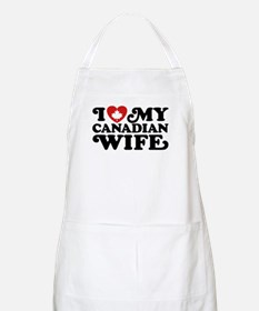 I Love My Canadian Wife Apron
