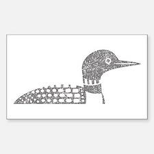 Grunge Loon Sticker (Rectangle)