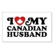 I Love My Canadian Husband Decal
