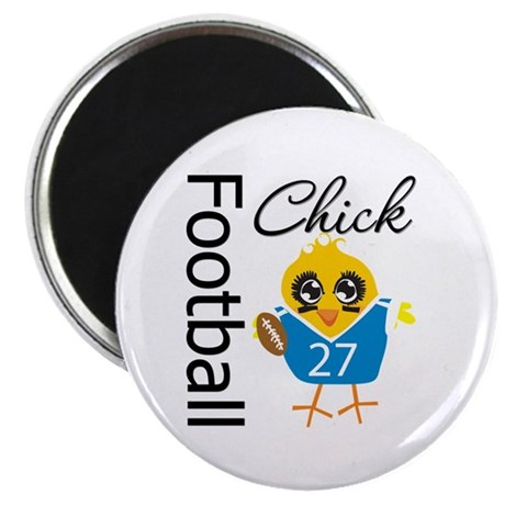 """Football Chick 2.25"""" Magnet (100 pack)"""