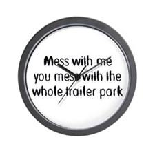 Trailer Park Wall Clock