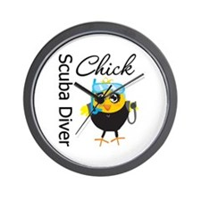 Scuba Diver Chick Wall Clock