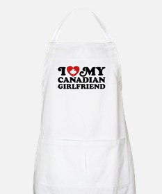 I Love My Canadian Girlfriend Apron