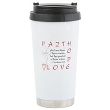 Greatest Is Love Travel Mug