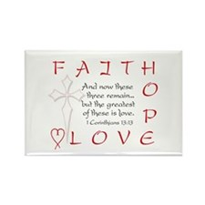 Greatest Is Love Rectangle Magnet