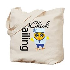 Sailing Chick Tote Bag