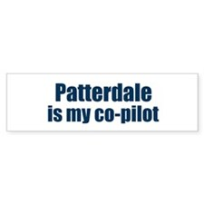 Patterdale is my co-pilot Bumper Bumper Sticker