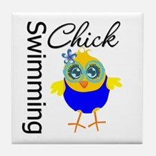 Swimming Chick v2 Tile Coaster