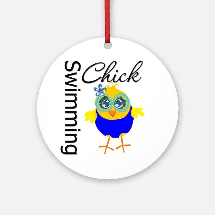Swimming Chick v2 Ornament (Round)