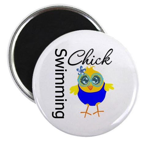 "Swimming Chick v2 2.25"" Magnet (100 pack)"
