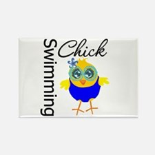 Swimming Chick v2 Rectangle Magnet