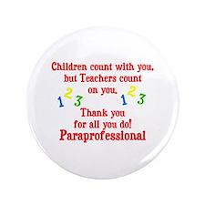 """Paraprofessional 3.5"""" Button"""