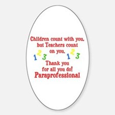 Paraprofessional Sticker (Oval)