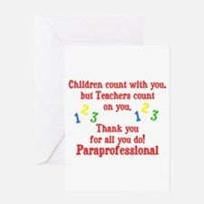 Paraprofessional Greeting Card