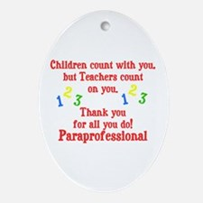 Paraprofessional Ornament (Oval)