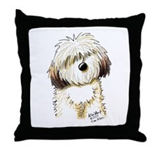 Havanese Caricature Throw Pillow