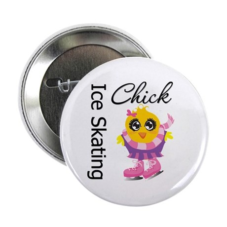 """Ice Skating Chick 2.25"""" Button"""