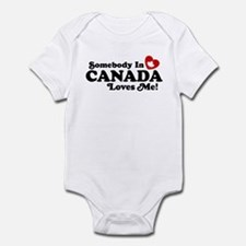 Somebody In Canada Loves Me Infant Bodysuit