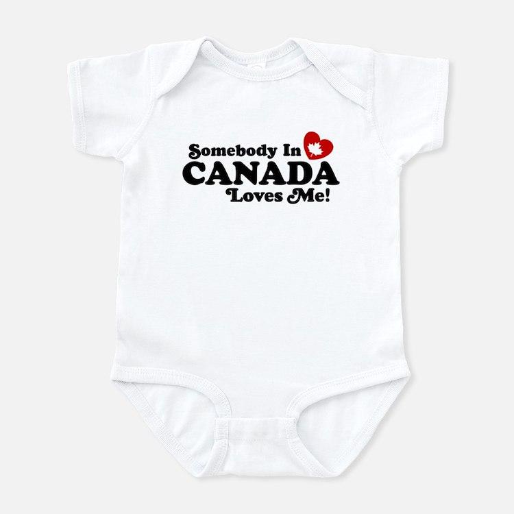 Somebody In Canada Loves Me Infant Bodysuit