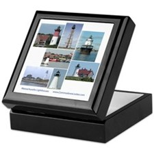 Massachusetts Lighthouses Keepsake Box