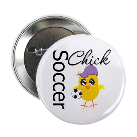"""Soccer Chick 2.25"""" Button"""