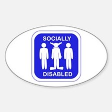 Socially Disabled Decal