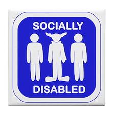 Socially Disabled Tile Coaster